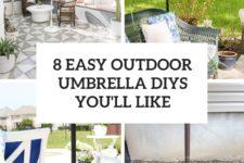 8 easy outdoor umbrella diys you'll like cover