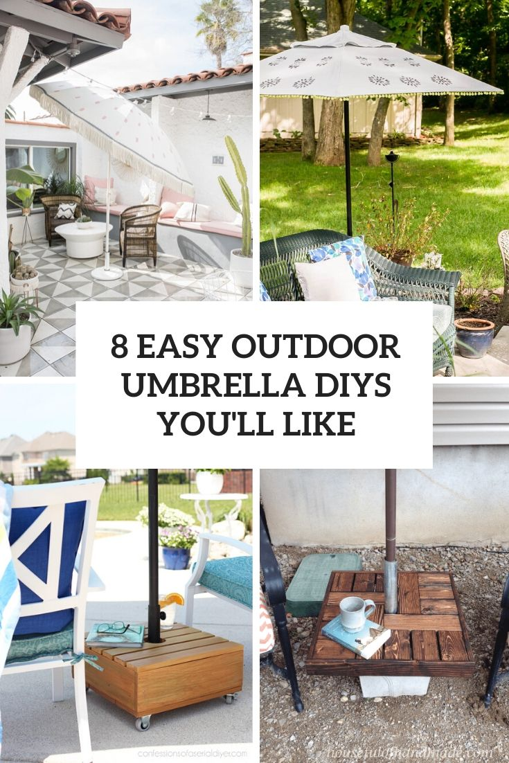 8 Easy Outdoor Umbrella DIYs You'll Like