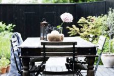 a modern outdoor dining space design
