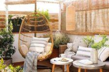 a rustic terrace design