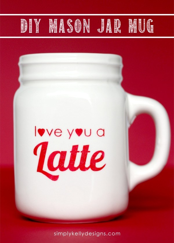 DIY Love You A Latte mug with porcelain paints (via simplykellydesigns.com)