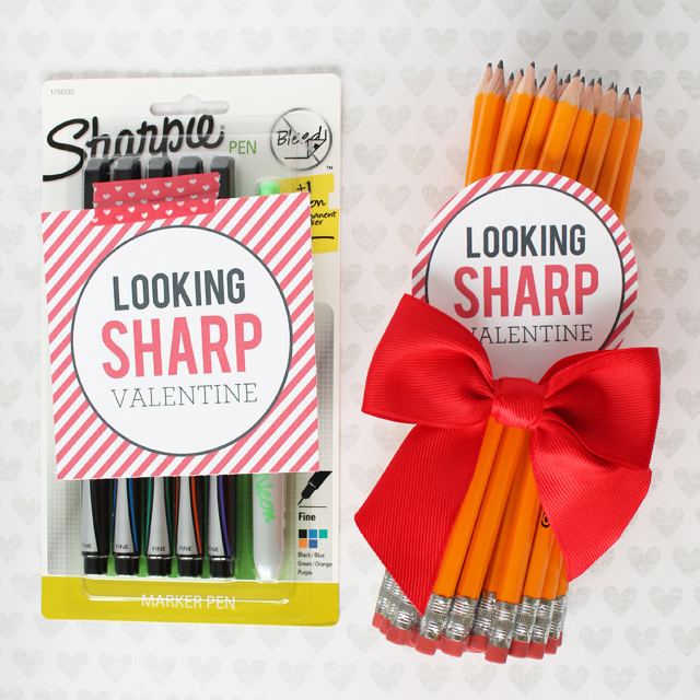 DIY Looking Sharp teacher's gift for Valentine's Day (via www.sisterssuitcaseblog.com)