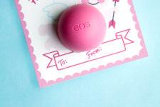 DIY Valentine's Day lip balm gift for teachers