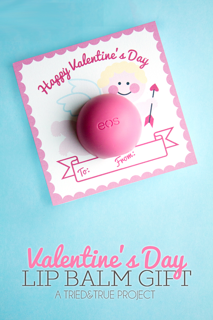 DIY Valentine's Day lip balm gift for teachers (via eighteen25.com)