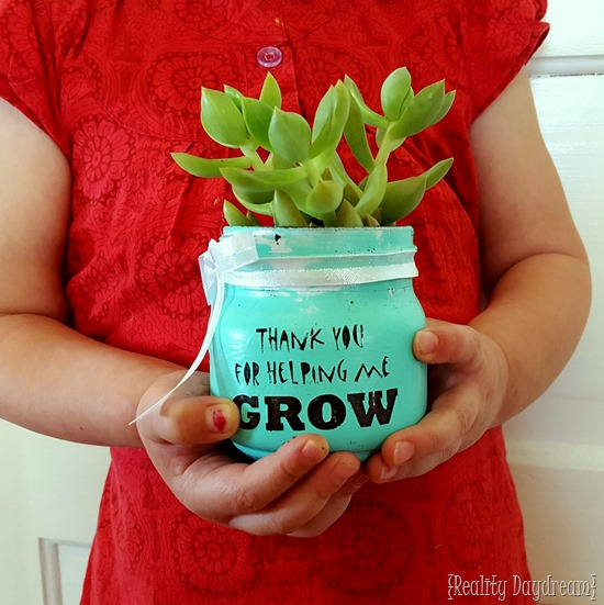 DIY succulent in a jar gift for Valentine's Day (via realitydaydream.com)
