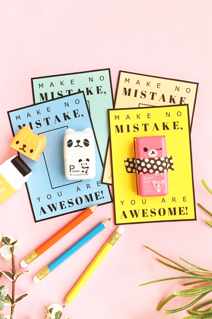DIY Valentine's Day teacher eraser gift (via maritzalisa.com)