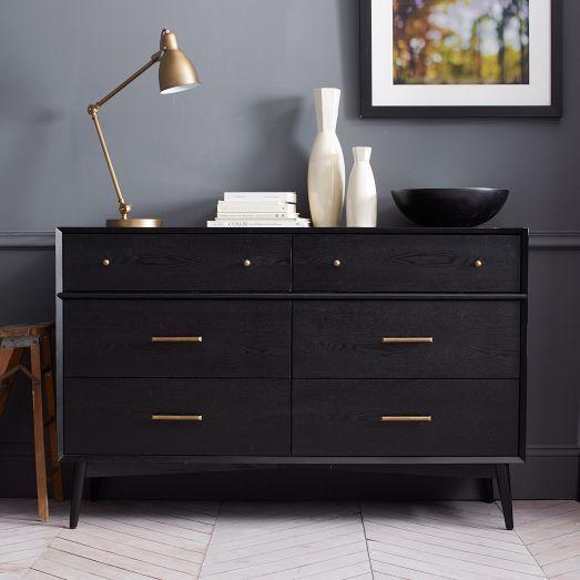 a cool IKEA MALM hack to turn it into a mid-century beauty
