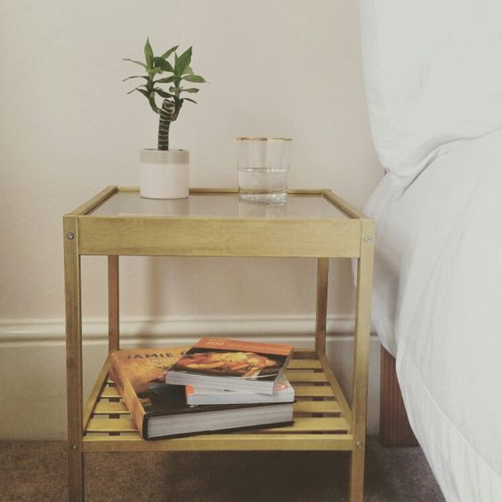 a light stained IKEA Nesna nightstand hack is a gorgeous and easy DIY for your bedroom