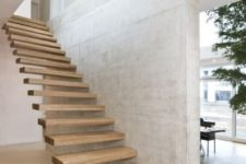 11 attaching the steps to the wall gives them really a floating and seamless look