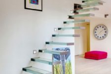 12 glass floating staircases look even more ethereal and airy than of any others