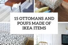 15 ottomans nd poufs made of ikea items cover