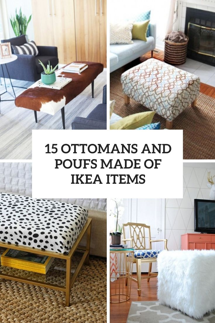 15 Ottomans And Poufs Made Of IKEA Items