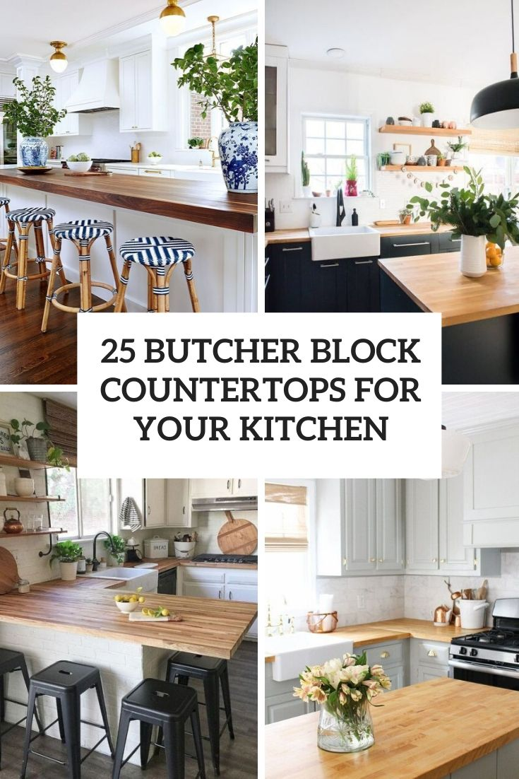 25 Butcher Block Countertops For Your Kitchen