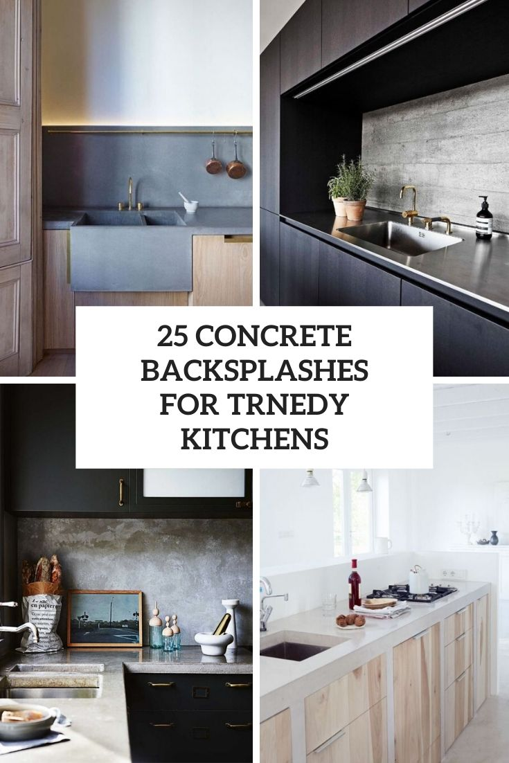 25 Concrete Backsplashes For Trendy Kitchens