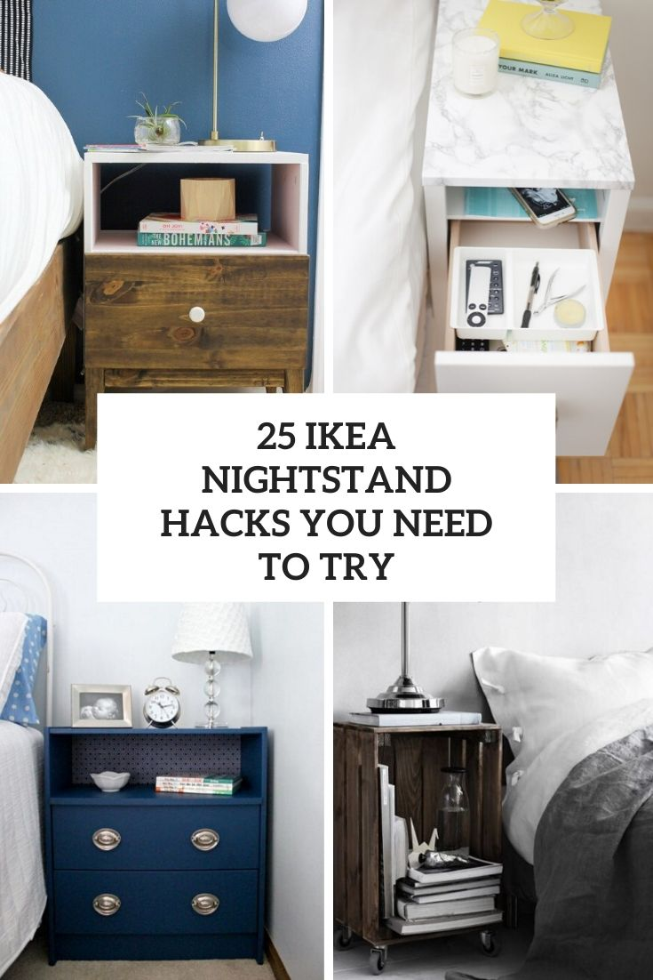 25 IKEA Nightstand Hacks You Need To Try