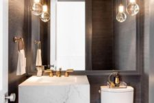 25 maximize the size of your mirror in a tiny powder room and you'll love the effect