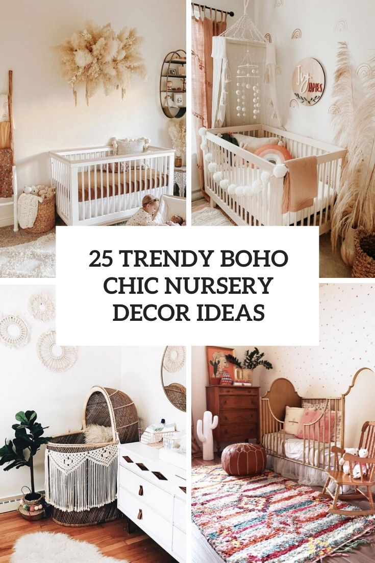 trendy boho chic nursery decor ideas cover