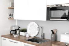 modern kitchen design with a butcher countertop