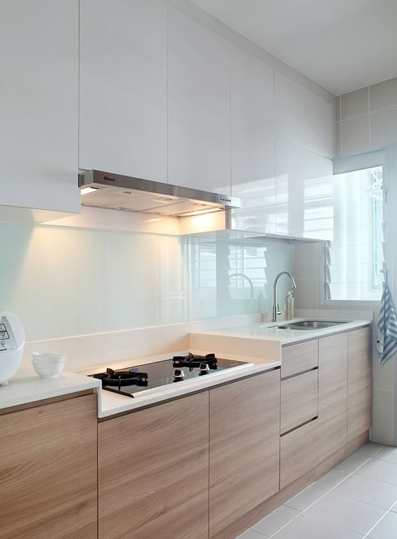 two tone kitchens are a hot trend, so you may change the color of only upper or lower ones to achieve such a look