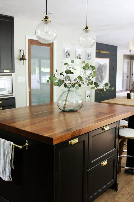 a chic custom walnut countertop is a great idea for almost any kitchen
