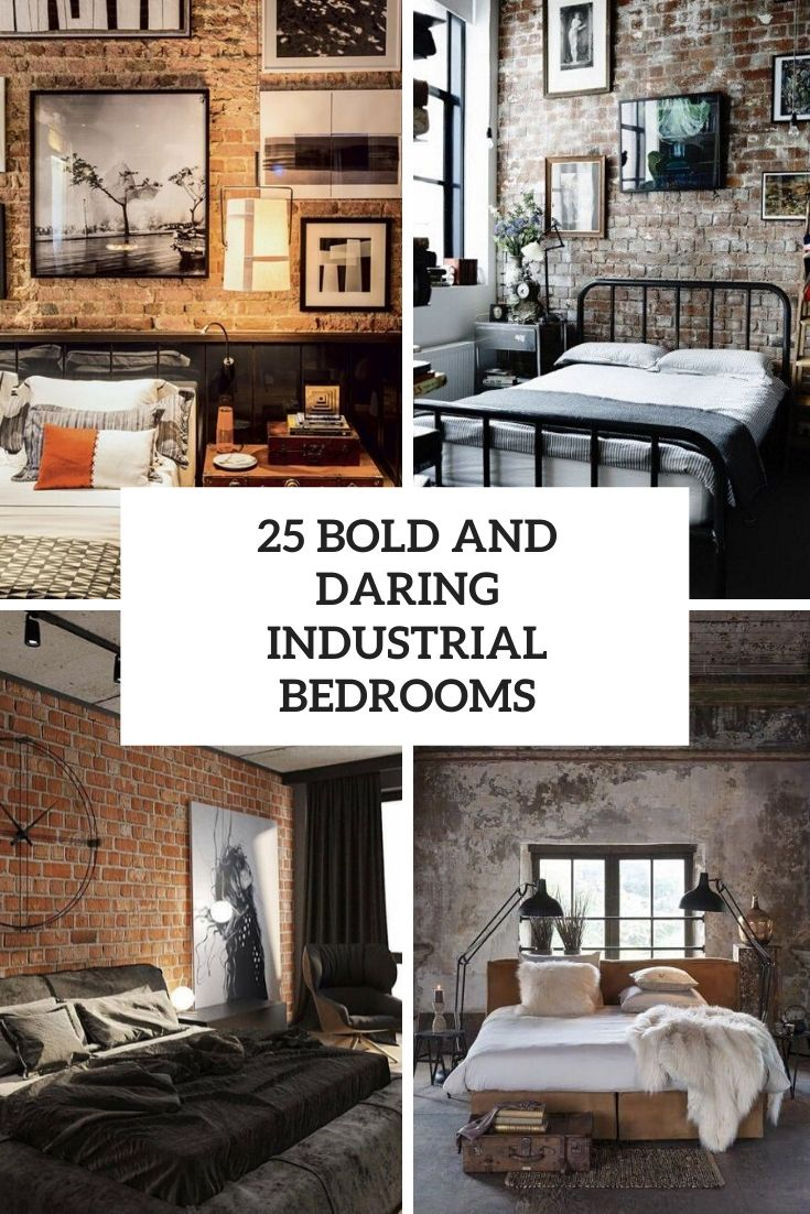 bold and daring industrial bedrooms cover