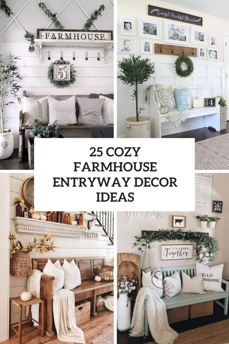 cozy farmhouse entryway decor ideas cover
