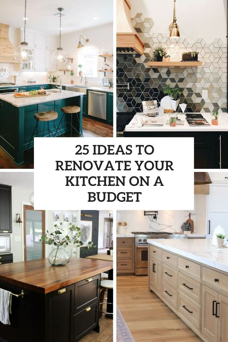 ideas to renovate your kitchen on a budget cover