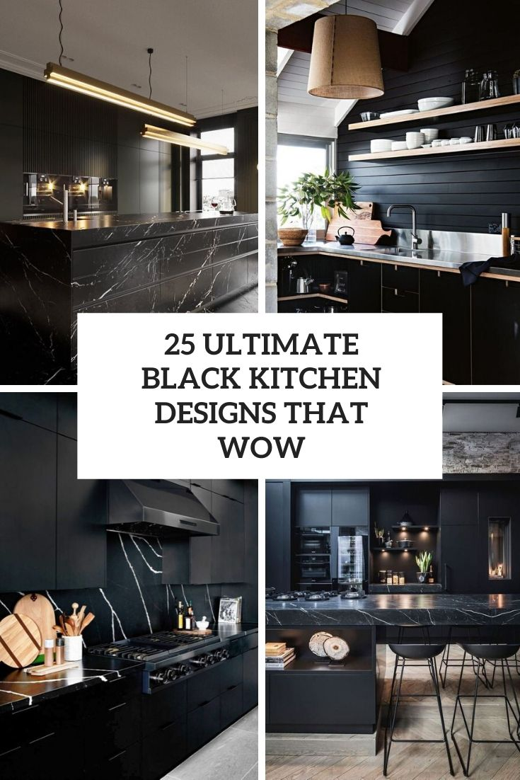 25 Ultimate Black Kitchen Designs That Wow