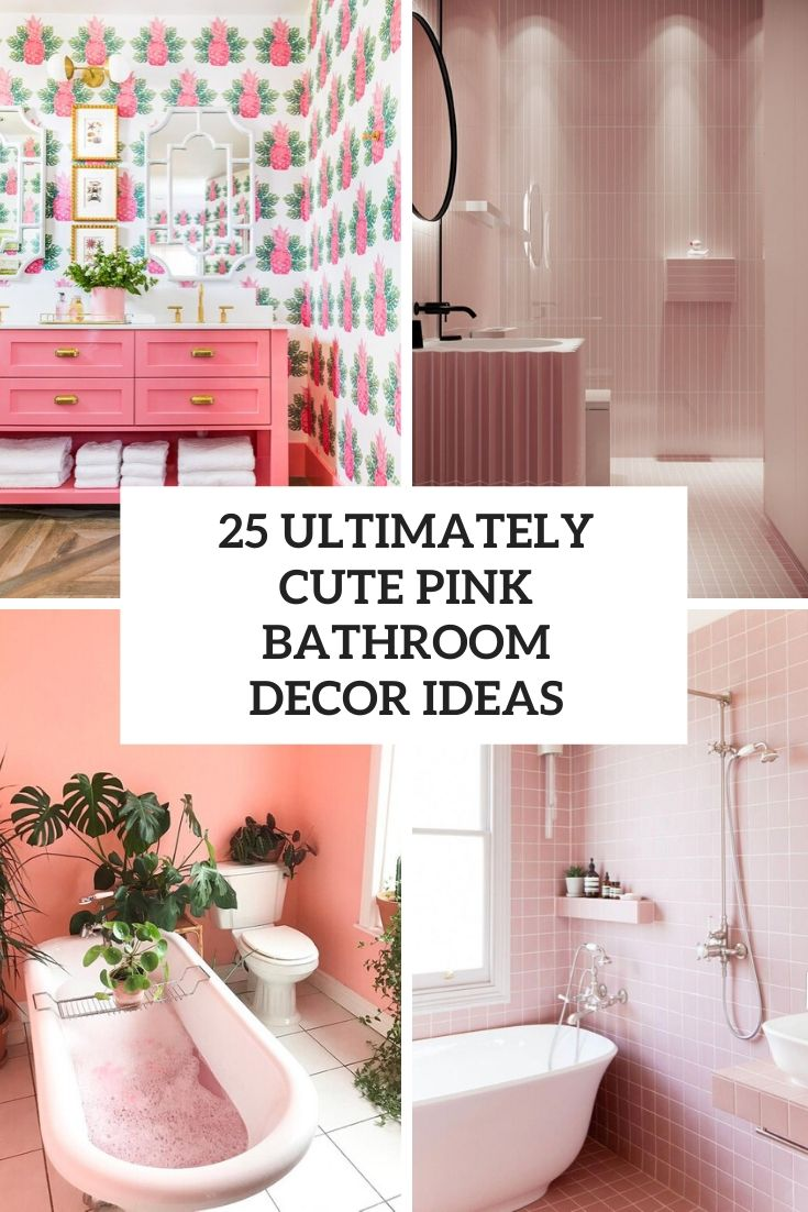 25 Ultimately Cute Pink Bathroom Décor Ideas