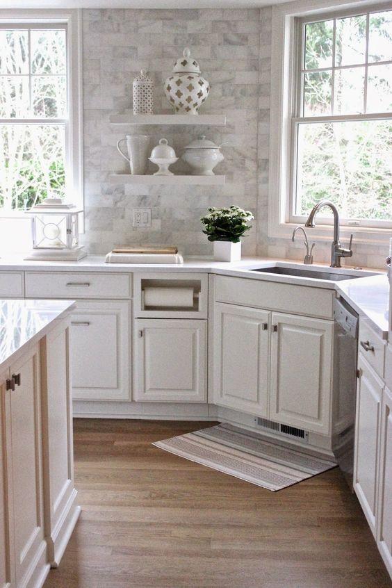 25 Timeless And Chic Marble Kitchen Backsplashes Shelterness