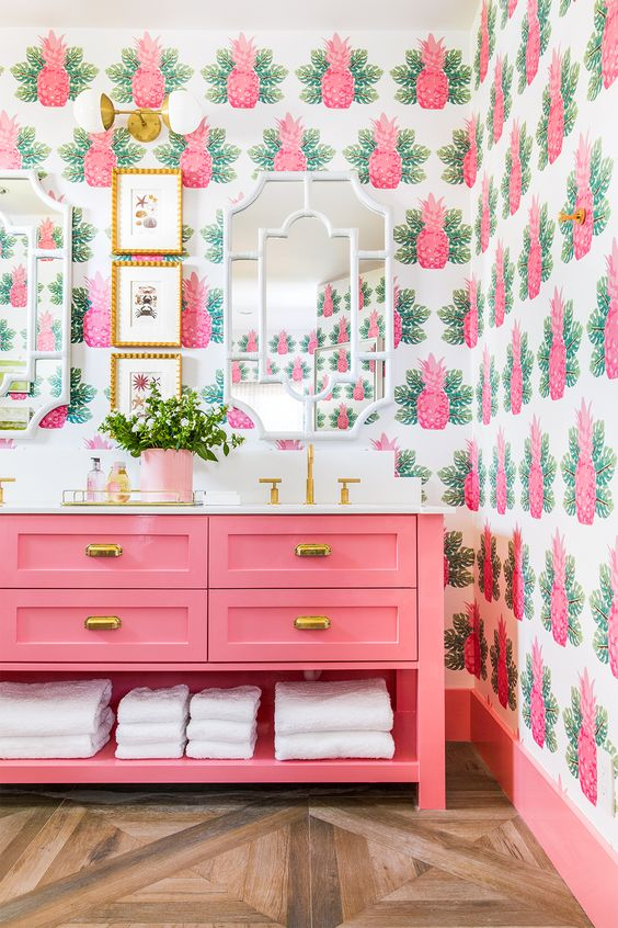 Pink Bathroom Décor Ideas