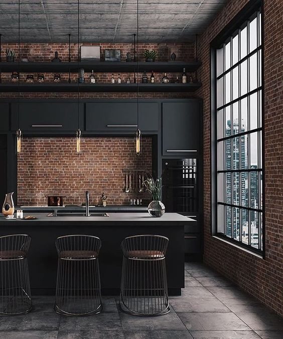 25 Bold Industrial Kitchens That Inspire Shelterness