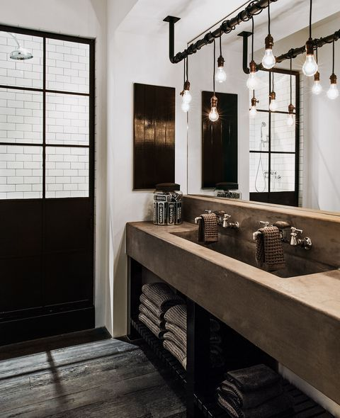 25 Catchy Industrial Bathroom Decor Ideas To Try Shelterness