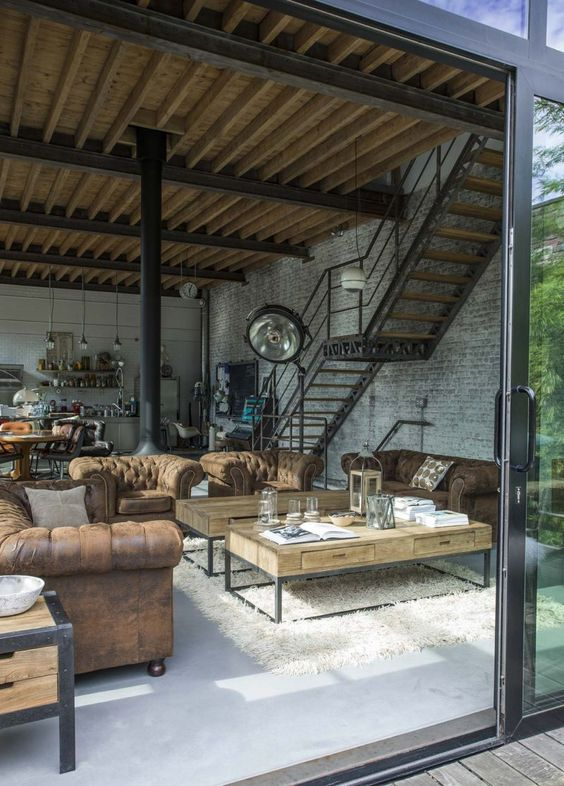 25 industrial living rooms that make a statement  shelterness