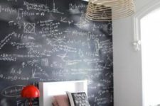 08 a student bedroom with a chalkboard wall used for various stdies right on it is a very comfy idea to rock
