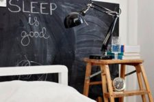 14 substitute a headboard with a chalkboard sign and create your art and leave wishes on it for a catchy look