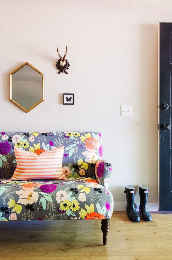 a bright and fun floral print loveseat will make any room of your home more special and summer-like