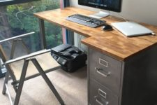 23 a vintage desk renovated with chalkboard paint – chalk whatever you like on this desk