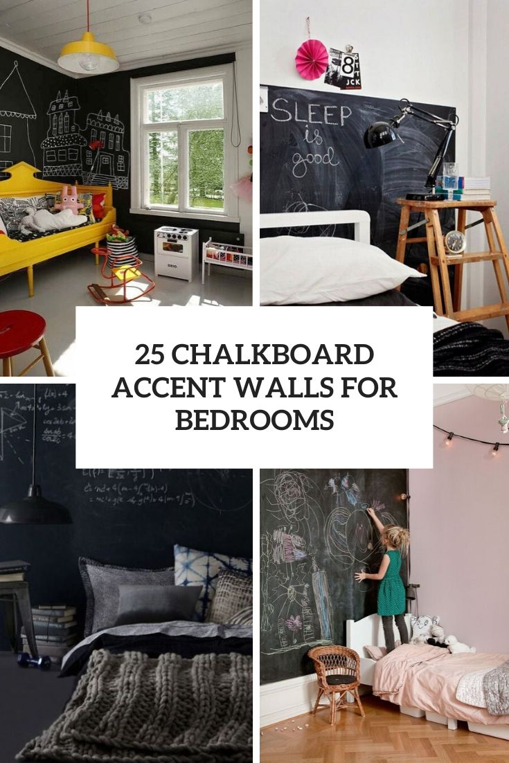 25 Chalkboard Accent Walls For Bedrooms