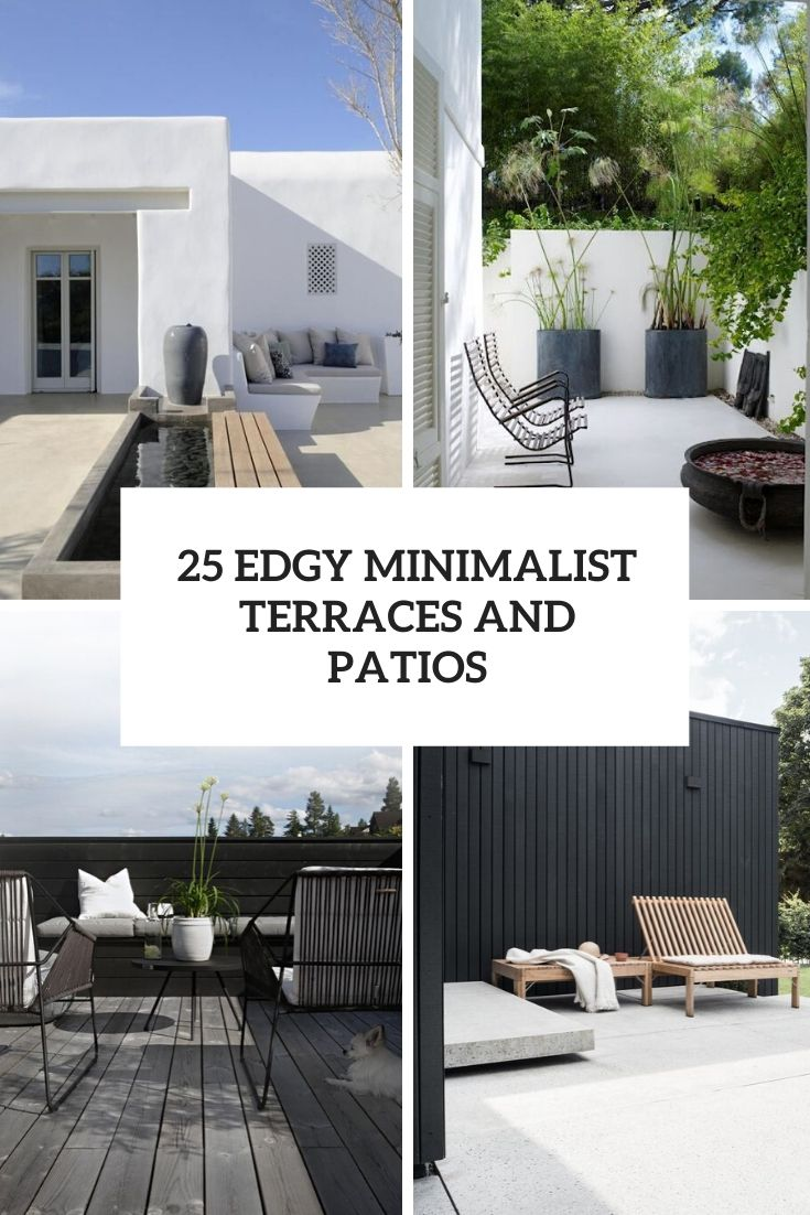 edgy minimalist terraces and patios cover