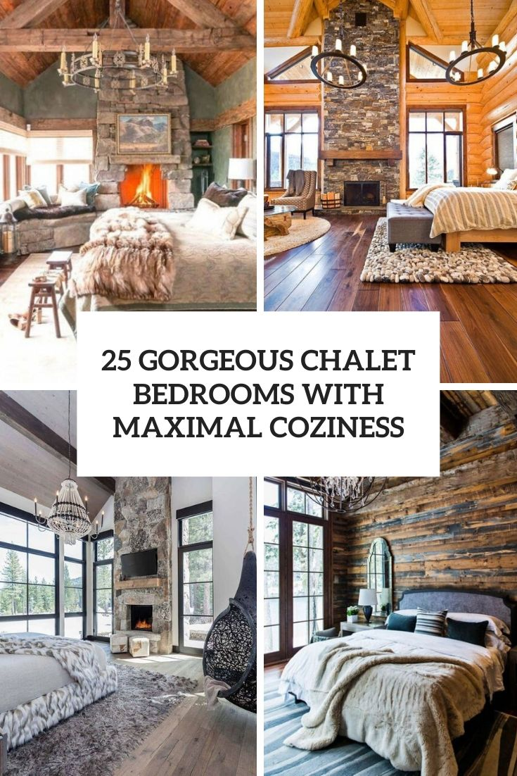 gorgeous chalet bedrooms with maximal coziness cover