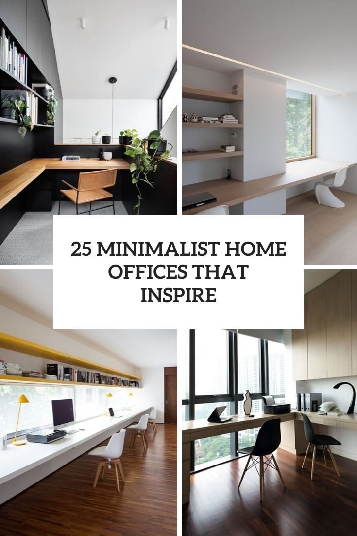 25 Minimalist Home Offices That Inspire