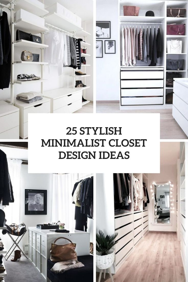 stylish minimalist clsoet design ideas cover