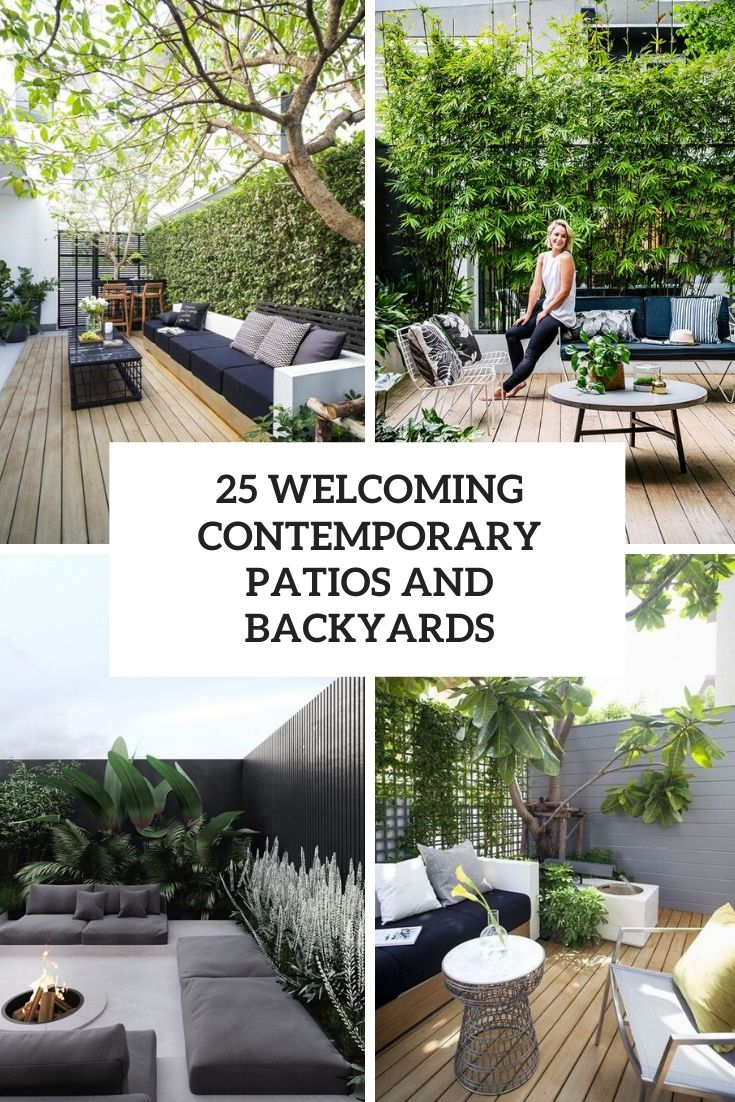 welcoming contemporary patios and backyards cover