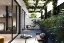 a modern neutral patio design