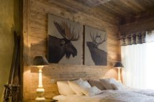 you can use skis for chalet-inspired decor