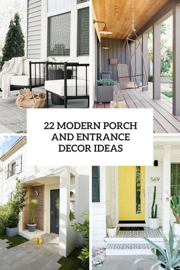 modern porch and entrance decor ideas cover
