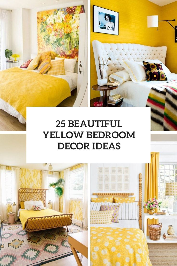 beautiful yellow bedroom decor ideas cover