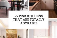 25 pink kitchens that are totally adorable cover
