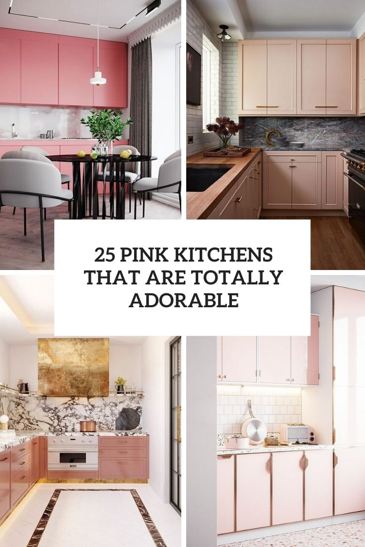 pink kitchens that are totally adorable cover